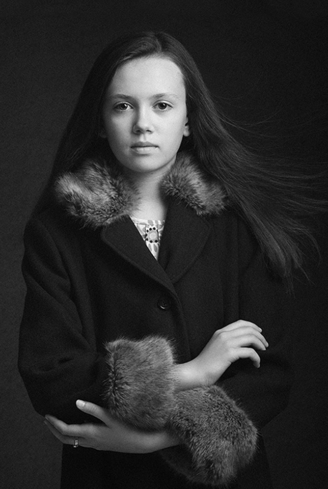 Classic styled portrait of girl by portrait photographer Dumfries