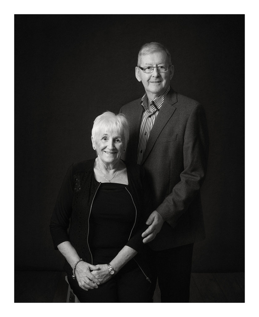 portrait of an elderly married couple