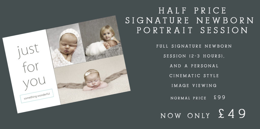 baby photography Dumfries - gift voucher for newborn photography session with Fiona McKean Photography