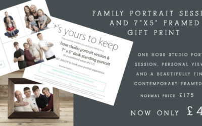 12 Days of Christmas 2020 Offer – Day 3               Family Portrait Photography Experience Voucher