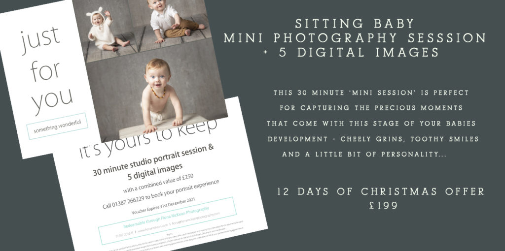 baby photography dumfries, christmas gift voucher for baby photographs with Fiona McKean Photography
