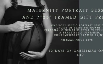 12 Days of Christmas 2020 Offer – Day 7 Maternity Portrait Session Voucher
